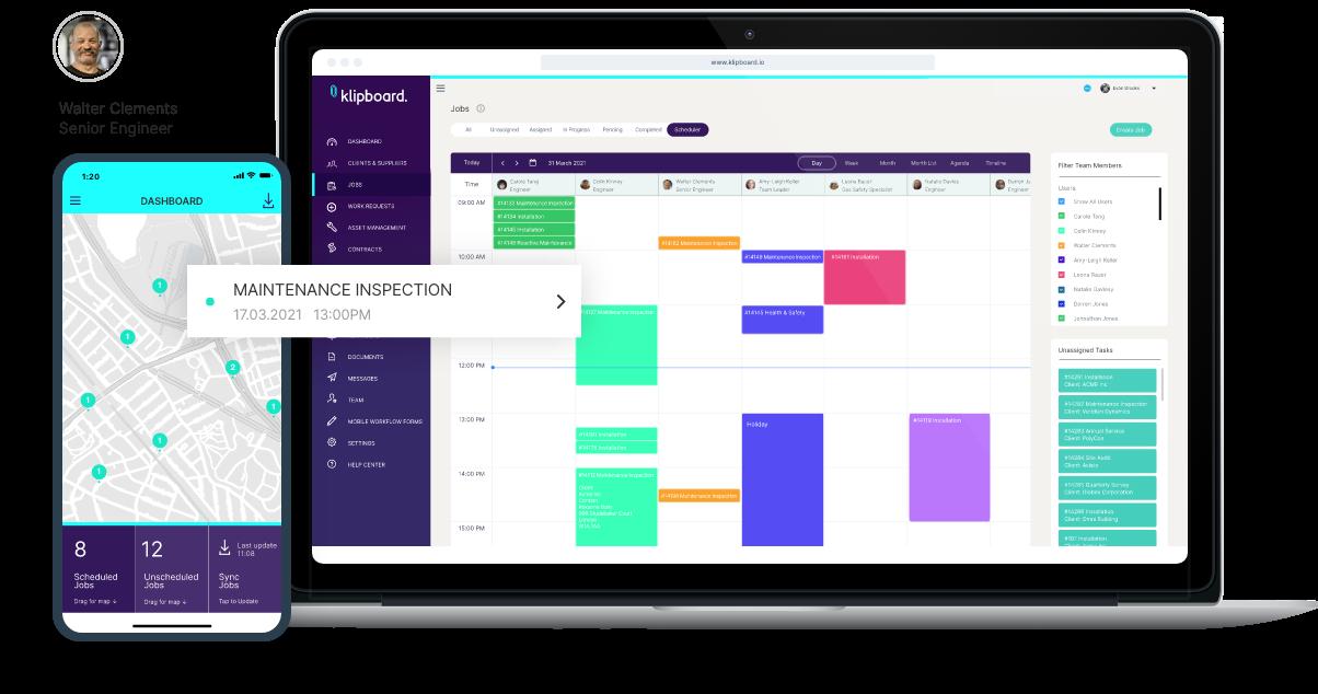 Planned work scheduler