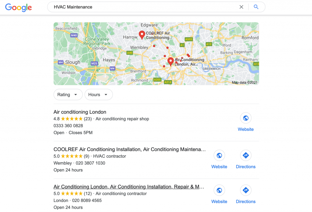 Google Reviews Search Results
